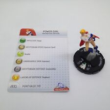 Heroclix The Brave and the Bold set Power Girl #035 Rare figure w/card!
