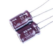 4pcs,ELNA 50V 100UF  85°C 8 x 12mm Electrolytic capacitor