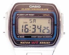 Gents SS Casio Digital Quartz 593 Alarm Chronograph Bracelet Watch Working