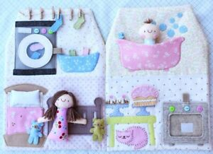 Happy House - Sewing Craft PATTERN - Rag Doll Baby Playset