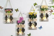 Hanging Wall Decor with LED light ,Wooden Board, Glass Jar and Artificial Flower