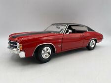 Maisto 1971 Chevrolet Chevy Chevelle 1/18 Diecast Red Black Excellent Condition