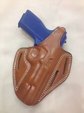 Leather PANCAKE Holster - BROWNING HI POWER, FEG PJK  (# 8010 BRN)