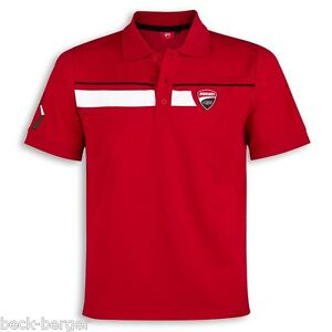 Ducati Corse Speed Polo short Sleeve Tee Red New
