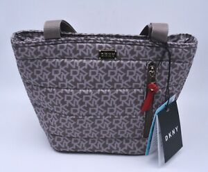 DKNY Signature Thermal Tote Lunch Bag In Beige DKNY Logo Insulated New