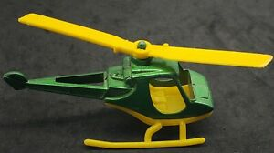 Vintage 1977 Tootsietoy Scorpion Helicopter -green With Yellow, Nice!