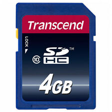 kQ Transcend SDHC 4GB SD HC Speicherkarte 4 GB Class 10 Highspeed Flash Memory