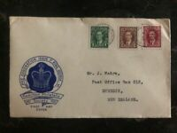 1937 Hamilton Canada King George VI Coronation FDC First Day Cover To New Zealan