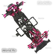 NEW!! CNC & Carbon 1:10 RWD 2WD RC Car Frame Kit w/ 4 Wheels for Sakura D4 OP EP