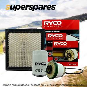 Ryco 4WD Air Oil Fuel Filter Service Kit for Mitsubishi Triton MQ