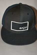 """Enjoi Skateboading Baseball Style Fitted Hat S/M 7"""" Plaid Patch Panda Lined"""