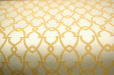 GOLD CREAM CONTEMPORARY UPHOLSTERY FABRIC 6.125 YARDS