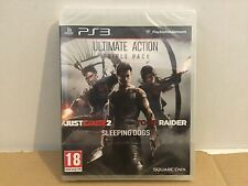 PS3 ULTIMATE ACTION TRIPLE PACK Just Cause 2+Tomb Raider+Sleeping Dog NEW SEALED