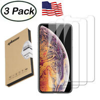 for iPhone 11 Pro Max X Xs XR Max 6s 7 8 Plus Tempered Glass Screen Protector US