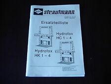 Orig. Ersatzteilliste Strautmann Siloblockschneider Hydrofox HC 1-4 und HK 1-4