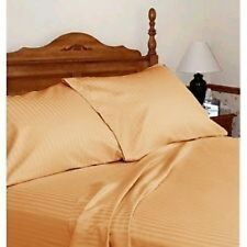 KING SIZE GOLD STRIPE BED SHEET SET 800 THREAD COUNT EGYPTIAN COTTON