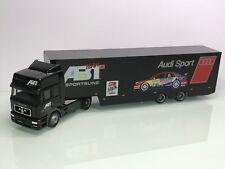 Herpa Audi Sport Team Abt MAN F2000 HD 19.463 Renntransporter (Mo6373)