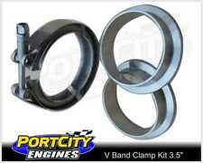 """Stainless Steel Exhaust V Band Flange & Clamp Kit 3.5"""""""