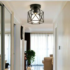 Black Chandelier Modern Ceiling Lamp Pendant Light Shade Rustic Lighting Fixture