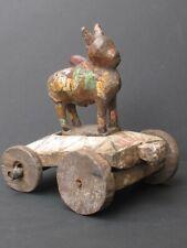 Ancien Chariot Nandi en Bois, INDE