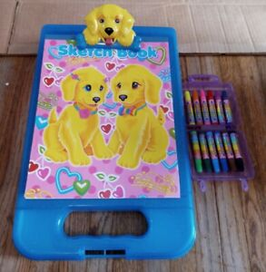Lisa Frank Be Creative Storage Clipboard puppy love markers sketch book 2012 lot