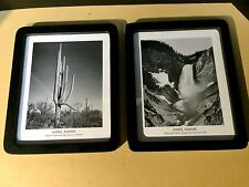 Two Ansel Adams Framed Prints. Yellowstone Falls and Saguaro National Monument