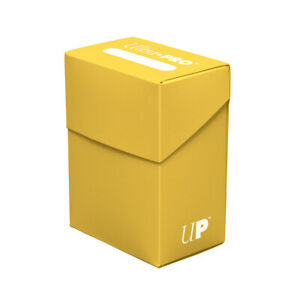 Ultra Pro Deck Box For Collectible Gaming Cards YELLOW Holds Cards In Sleeves