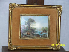 Jean Coquerel c1750's Original Oil French Landscape Painting Signed