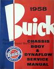 1958 Buick Factory Shop Manual, Body Repair and Dynaflow Service Manual Reprint