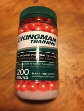 200 Kingman Official Training  .43 Caliber 11mm Paintballs ORANGE rap4 trainer
