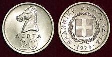 Greece 20 Lepta 1976 UNC from roll
