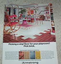 1967 print ad page - Armstrong's vinyl floors flooring family playroom decor AD