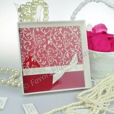 50 x White Square Invitation Box - 165 x 165mm With Clear Lid