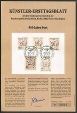 DDR KÜNSTLER-ETB 1990/2 500 JAHRE POST DÜRER POSTREITER PFERD HORSE z575