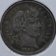 1909 10C Barber Dime Philadelphia Circulated Extremely Fine XF EF