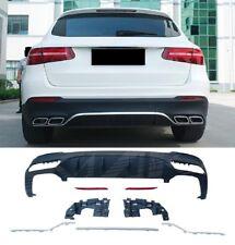 Für Mercedes-Benz GLC X253 AMG Look Diffusor Stoßstange Auspuff Grill