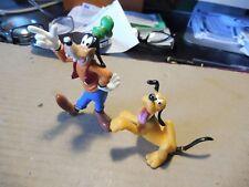 lot de 2 figurines disney bullyland pluto dingo