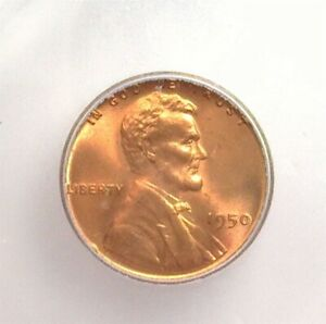 1950 LINCOLN CENT ICG MS 66+ RD LISTS FOR $140!!