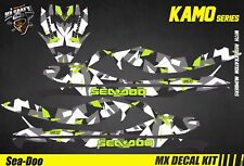 Kit Déco pour / Decal Kit for Jet Ski Sea-Doo Gti/Gtr/Gts/Wake - Kamo Green