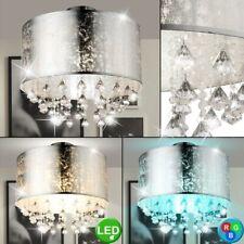 RGB LED Textil Lámpara de Techo Salón Control Remoto Cristal Regulable