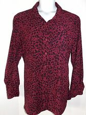 Sag Harbor Size 22W  NWOT  Warm Micro-Suede Animal Print Button Blouse or Jacket