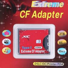 WiFi SDHC SDXC for SD To CF Type 1 Compact Flash Memory Card Reader Adapter