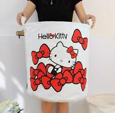 Cute Hello Kitty Large Laundry Kids Toys Basket Tidy Clothes Doll Socks Storage