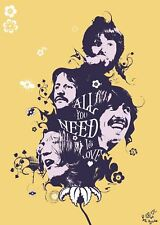 All we need is love the beatles 29.7 x 42cm poster art print AMK2177