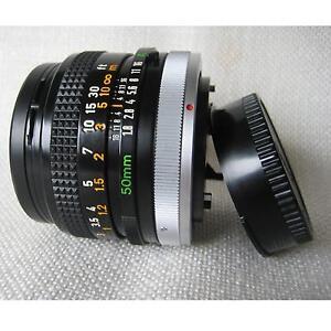 OBJEKTIV CANON LENS FD 50 mm1:1.8 S.C. mit Schutzfilter ohne Kratzer neuw. Nr.10