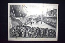 Amerigo Vespucci, Margherita di Savoia, Vittorio Emanuele Incisione del 1882