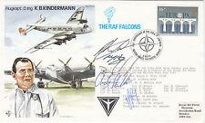 Rare TP29b5 Kaptain Kindermann Flown Carried by RAF Falcons Signed 5 RAF Falcons