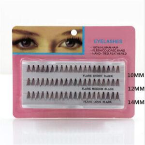 60Pcs Women Human Hair Eyelash Eye Lashes Individual Cluster Natural Eyelash