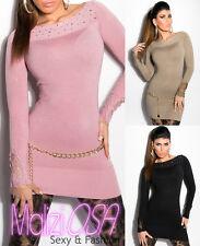Maglione Donna Pizzo Maglia Pullover Miniabito sweater Maglioncino