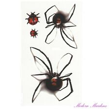 Spiders Removable Temporary Tattoo Body Art 106x61mm